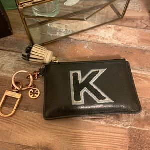 "Tory Burch ""K"" Monogram Card Case"